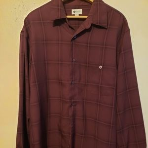 Mens long sleeve button down Haggar  dress shirt